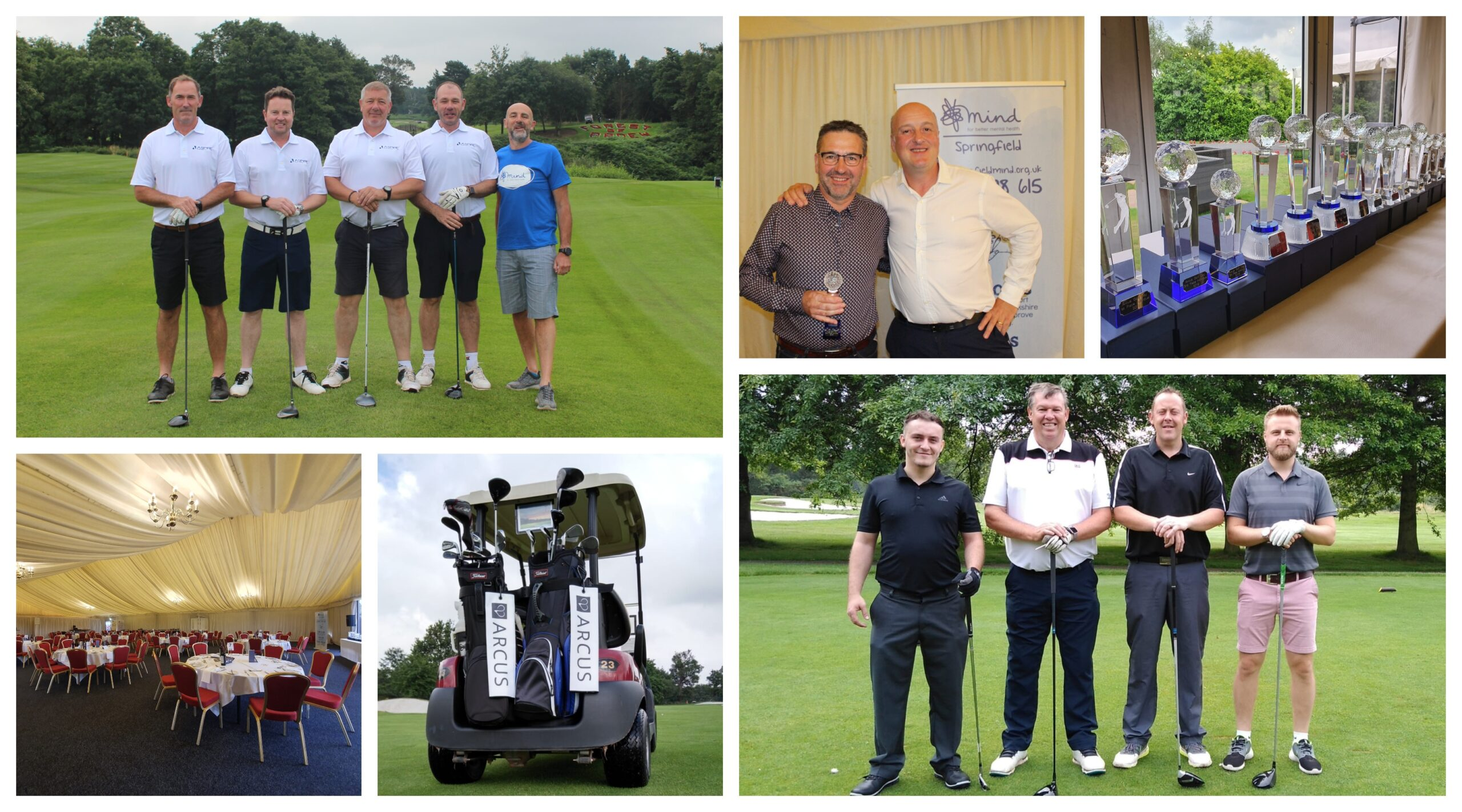 Arcus get a hole in one and raise over £32,000 for Mind and Springfield Mind